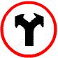 ป้ายจราจร เลี้ยวซ้ายและขวา